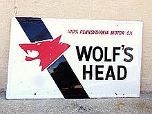 Wolf's Head Tin Sign