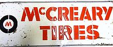 McCreary Tires Tin Sign