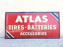 Atlas  Tires and Batteries Accessories Steel Sign