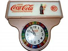 1940's Coca-Cola Clock Ten Cents
