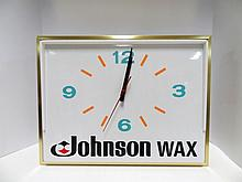 Vintage Johnson Wax Advertising Clock
