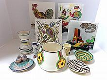 Eleven Pieces European Art Pottery