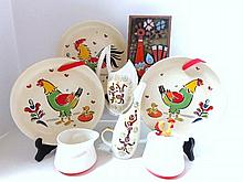 Eight Pieces 1960's Studio Ceramics
