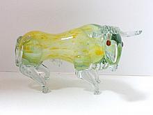 Murano Mid-Century Glass Bull