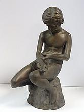 Frederick Hanley Bronze Statue of Child