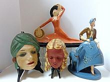 Four Female Art Deco Sculptures