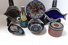 Seven Pieces Mid-Century Studio Pottery