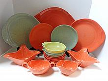 Fifteen Pieces Russell Wright Tableware