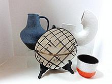 Four Pieces Mid-Century Pottery