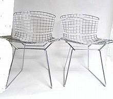 Pair Harry Bertoia Knoll Chairs