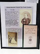 General Tom Thumb and Wife Signed Wedding Photo