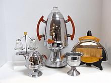 Art Deco Chrome Coffee Set and others