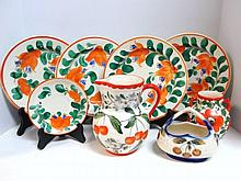 Eight Pieces Czechoslovakia Pottery
