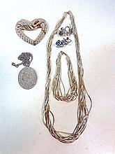 Six Piece Sterling Jewelry Lot