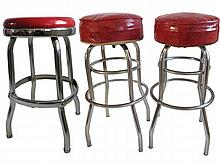 Pair Lloyd Heywood Wakefield Stools and Other