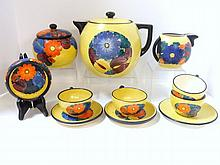 Czech Pottery Tea Set