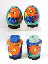 Joseph Mrazek Czech Art Pottery Salts
