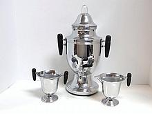 Art Deco Chrome Coffee Set