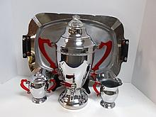 Mid-Century Chrome Coffee Set