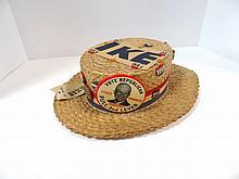 Vintage Eisenhower Straw Campaign Hat
