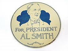 Al Smith for President Tin Sign