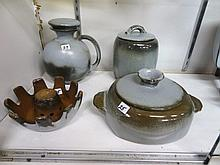 Four Pieces Frankoma Mid-Century Pottery