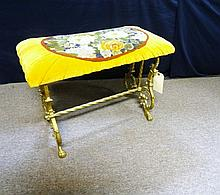 Victorian Decorated Cast Iron Bench