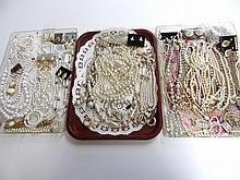 Costume Jewelry Grouping Pearls