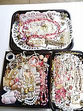 Costume Jewelry Grouping Pink