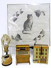 Dollhouse  Furniture, Chessie Cat Hankie,etc.