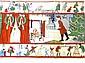 Vintage Santa Claus Crepe Paper
