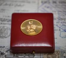 IRAN: Gold Commemorative Coin w/ Red Collector's Box, AH1347.