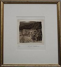 Ralph Steadman, British b.1936- Highland scene