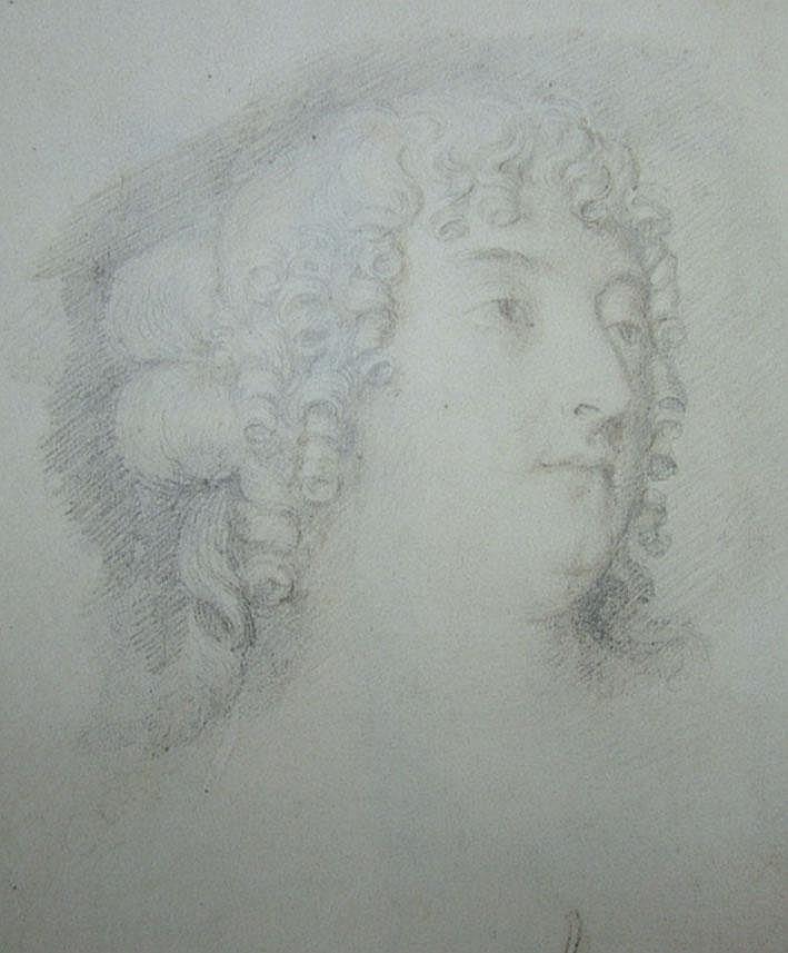 Manner of Thomas Forster c.1690- Plumbago portrait