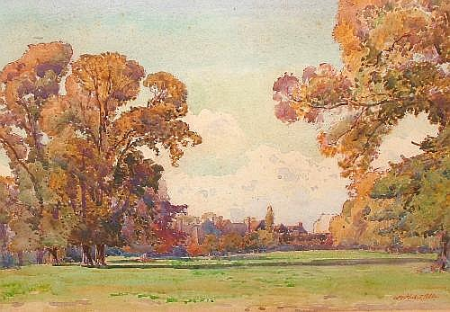 William Herbert Allen b.1863- Parkland with houses