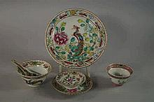 A set of Chinese porcelain bowls and stands, late