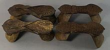 Two pairs of Indian wooden sandals, 19th/20th cent