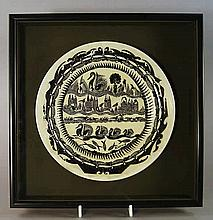 A Royal Worcester earthenware Plate, with printed