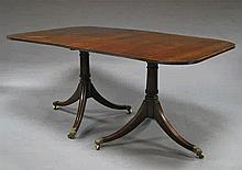A George III style mahogany D end dining table, 20