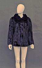 A dark mink short jacket, by Bradleys, with concea