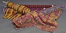 Eight bolts of various modern fabrics, various mat