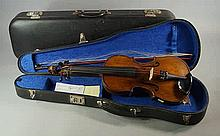 A violin, bearing paper label to interior for Anto
