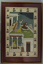 A Indian gouache  painting, 20th century, of femal