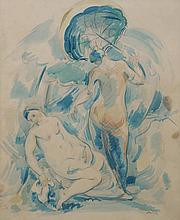 Georg Merkel, Austrian 1881-1976- Reclining nude