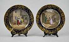 A pair of Continental cabinet plates, possibly by