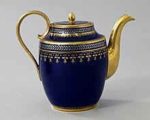 An Empire Sevres coffee pot, early 19th century,