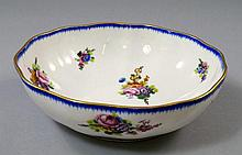 A Sevres bowl, 18th Century,painted and decorated