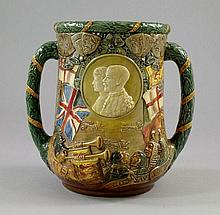 A Royal Doulton twin handled Loving Cup