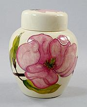 'Magnolia' A Moorcroft ginger jar and cover,