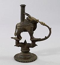 An Indian bronze temple light, 18th/19th century,